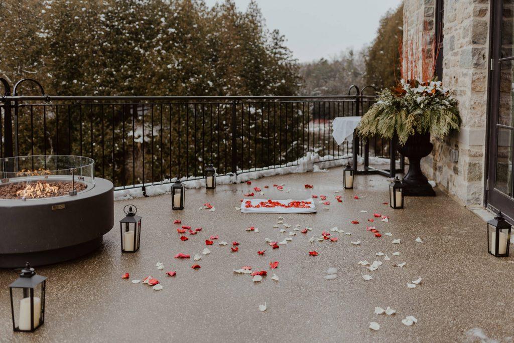 Surprise Proposal Elora Mill Hotel